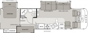 2007 Hurricane 34B Floorplan